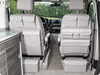 """MULTIBOX CarryBag en el VW T6 California Ocean, """"Cuero Gris Moonrock""""."""